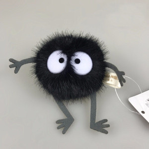 Image 2 - Plush Toys Spirited Away Totoro Small Pendant Plush Toy Black Carbon Coal Ball Dust Elf Doll