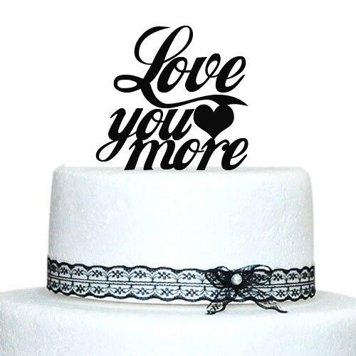 Customized 6 Acryl Hochzeitstorte Topper Personalisierte Quote