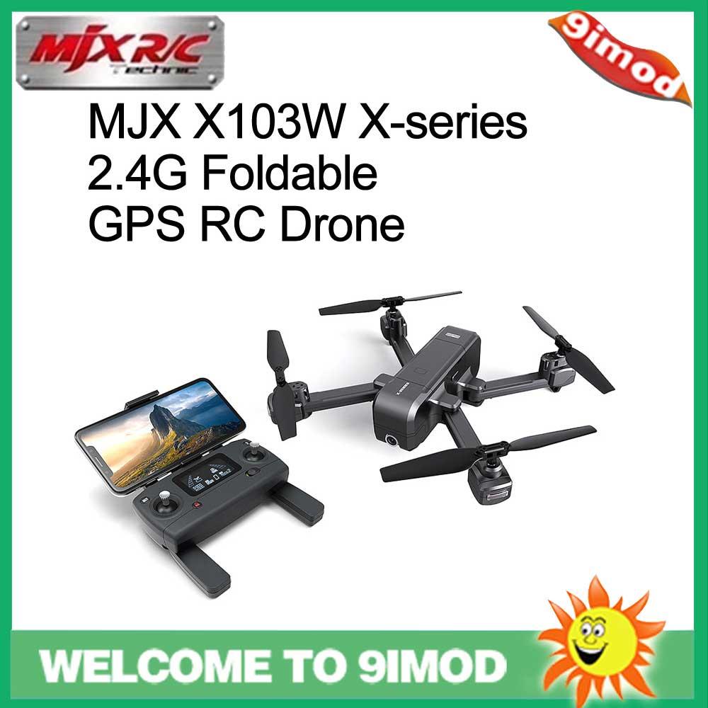 Original MJX X103W X-série 2.4G Dobrável GPS RC Quadcopter Drone Com Câmera Wi-fi 1080P Modo Headless