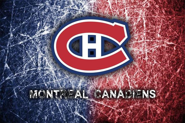 Custom canvas wall decals montreal canadiens poster montreal canadiens nhl logo wallpapers wall stickers office decor