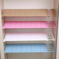 Upgrade Wardrobe Storage Rack Cabinets Kitchen Partition Nail Telescopic Spacer Frame Kitchen Wardrobe Storage Layered Separator
