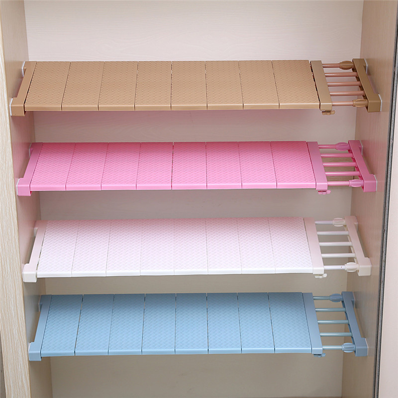Upgrade Wardrobe Storage Rack Cabinets Kitchen Partition Nail Telescopic Spacer Frame Kitchen Wardrobe Storage Layered Separator