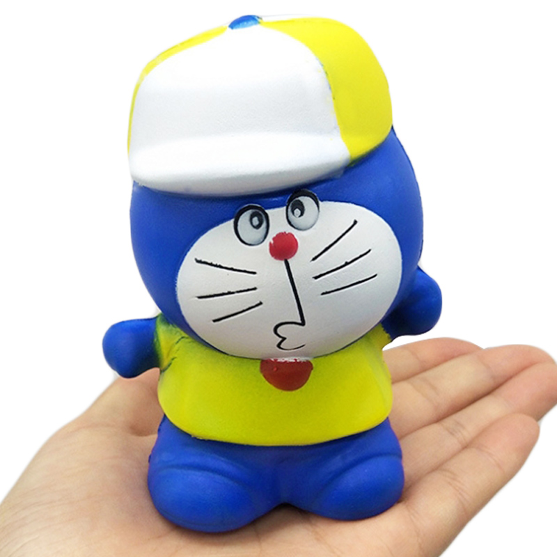 Jumbo Doraemon Squishy Kawaii Cartoon Doll Simulation Bread Cream Scent Slow Rising Soft Squeeze Toy Stress Relief For Kid Gift