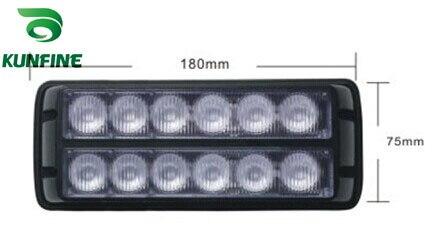 New Arrival 100% water-proof LED strobe light 12*1W High Power LEDs Traffic Advisors light With flash Patterns KF-L3005