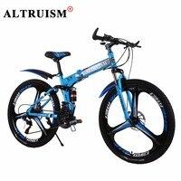 Altruism X9 Pro Bicycles Steel 21 Speed 26 Inch Mountain Bike Double Disc Brake Men Women