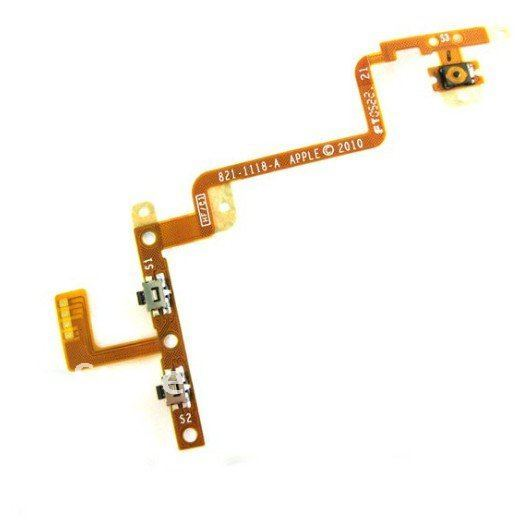 Volume  power flex  cable  Line switch machine for  ipod  touch 4 free shipping