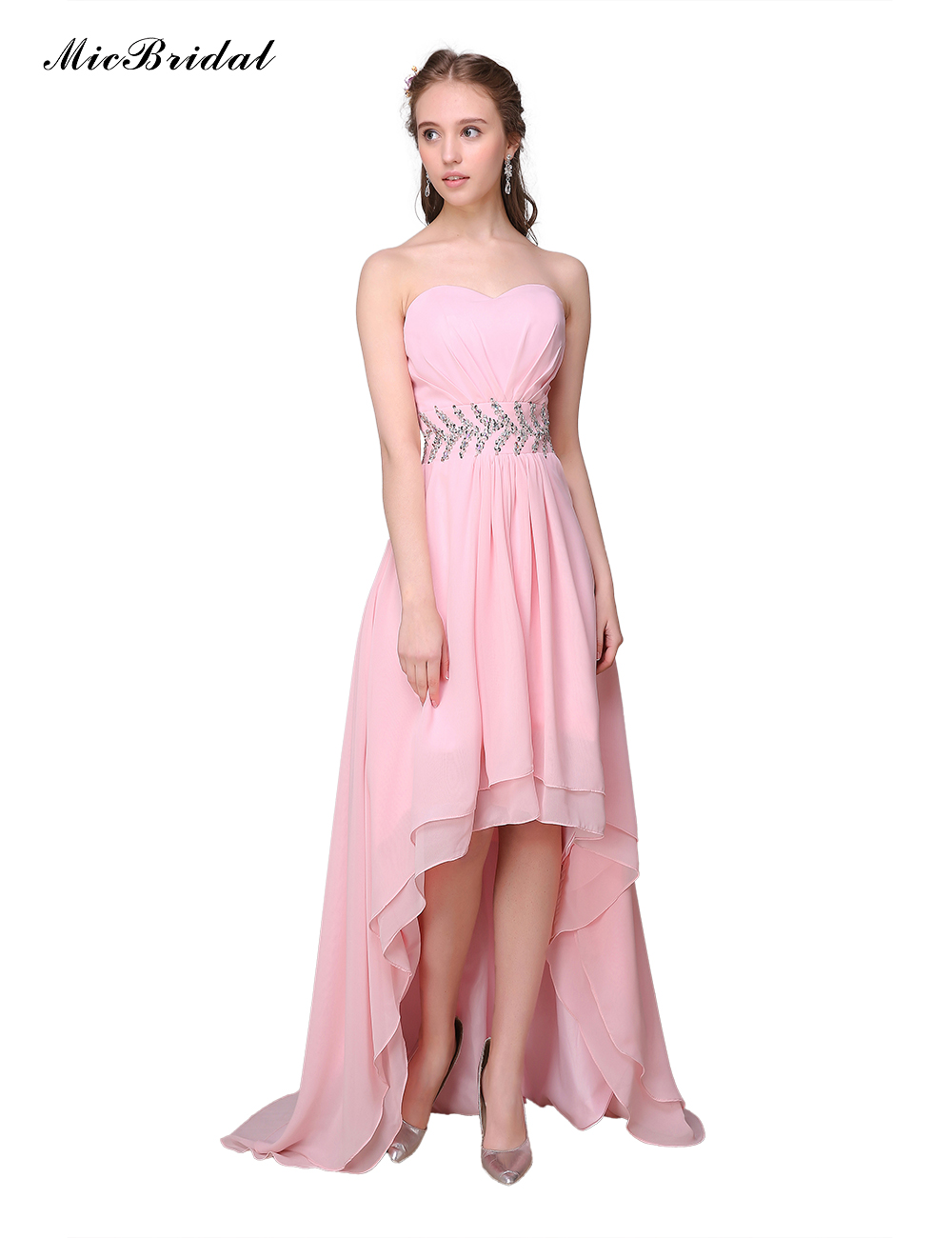 Popular Pink Dinner Cheap Dress Lots