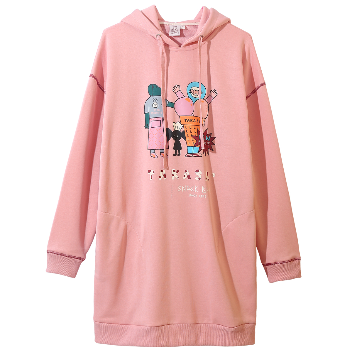 High Quality Fashion Design Autumn Spring Women Long Sweatshirt Big Hoodies Pullovers Sweatshirts Dress Jumper Top