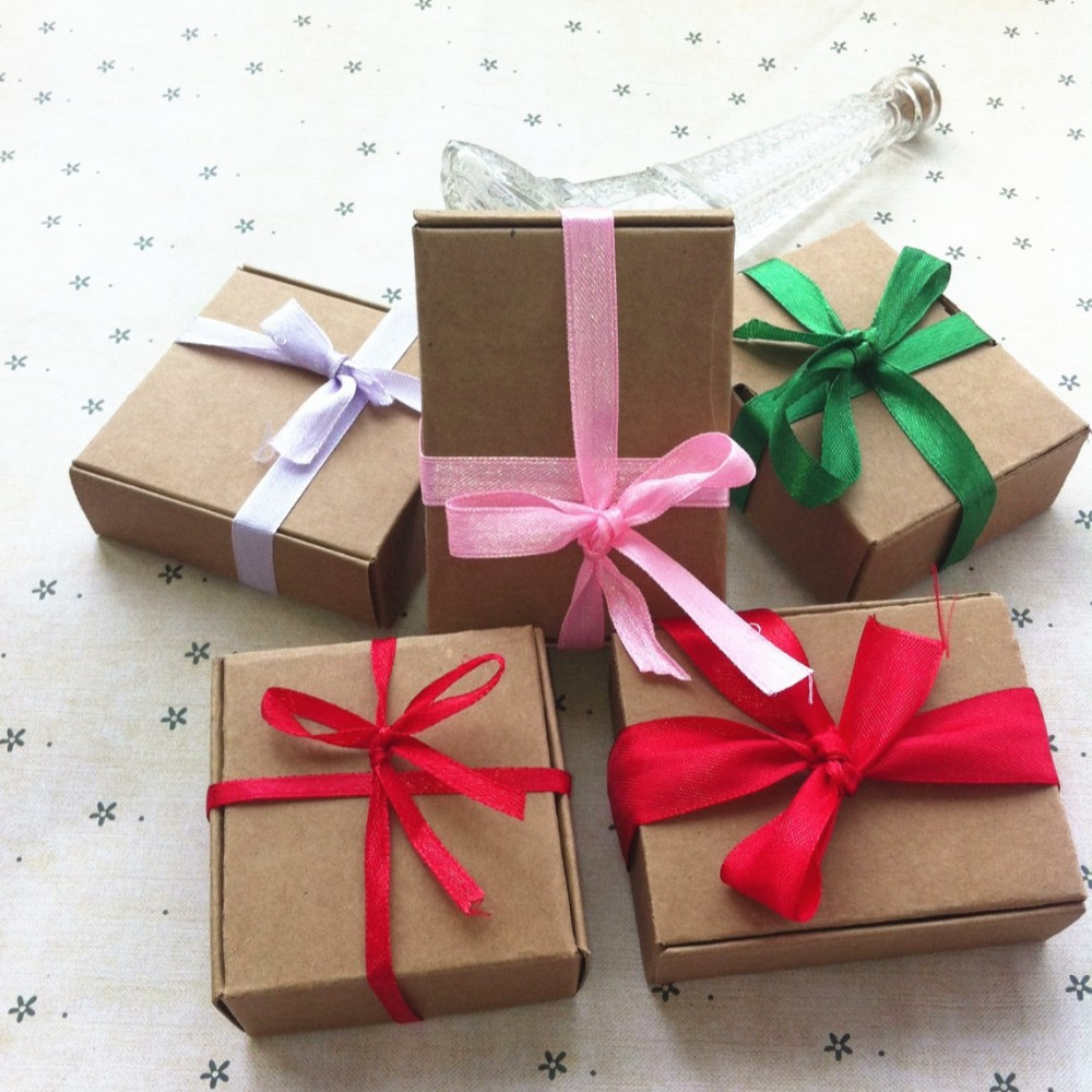 404025mm 50pcs Lot Foldable Kraft Paper Box Gift Macaron In Bags Wrapping Supplies From Home Garden On Aliexpress