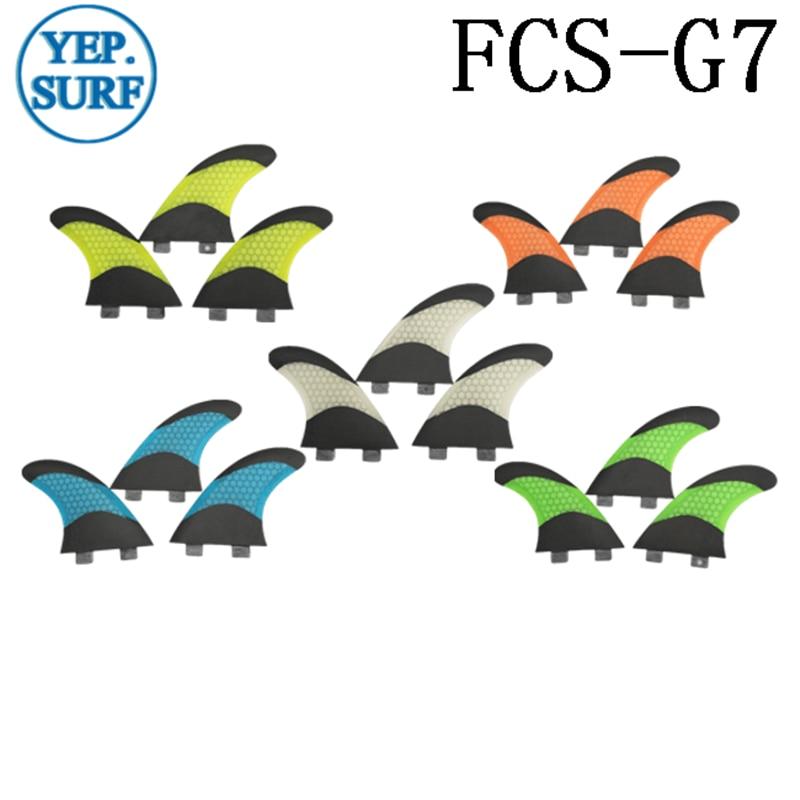 Surf FCS Fin Quilhas G7 Honeycomb Fiberglass Surfboard Fin Carbon - წყლის სპორტი