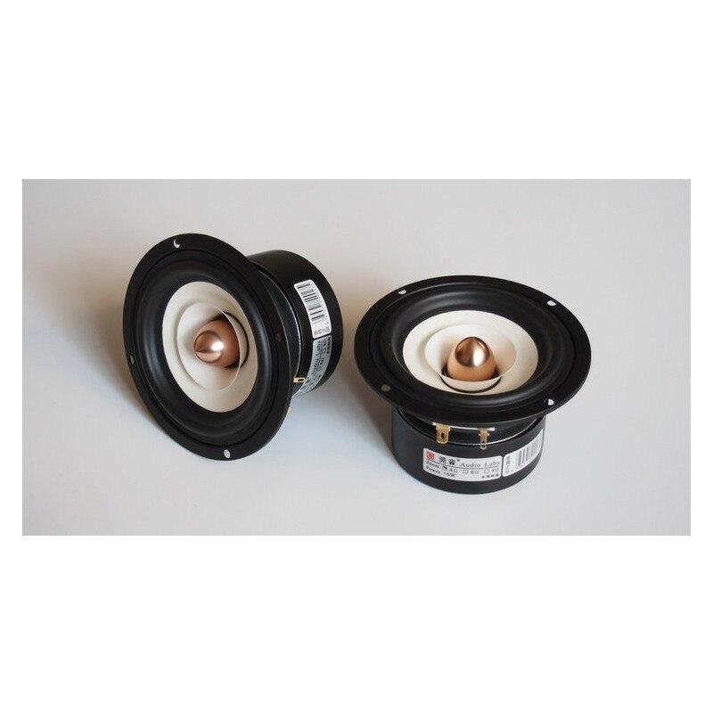 4 Inch Full Range Speaker HiFi All Frequency Loudspeaker Unit DIY 4/8ohm Round h 019 fountek fr88ex full range 3 inch hifi speaker amplifier speaker hot sale 84 3db 1w 1m
