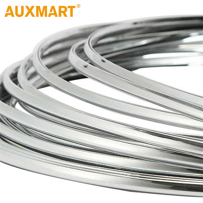 Auxmart 3 Meters 6mm Car Chrome Trim Car-styling Grill Strips Molding Decoration Bumper Grille Protection Strip Scratch Sticker ...