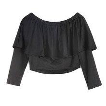 Hot fashion summer font b womens b font long sleeve off shoulder sexy font b shirts