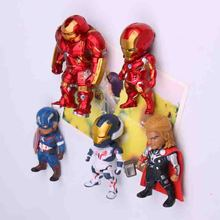 5pcs Creative powerfulThe Avengers series anime characters Marvel hero  3D fridge magnets Refrigerator Decoration