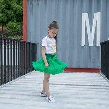 Юбка-пачка зеленого цвета; юбки для девочек; короткие юбки до колена для девочек; сезон весна-лето