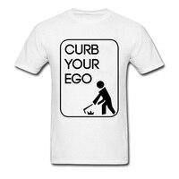 Doğal Pamuk Elbise Yaz Üstleri Tee Sizin Ego Tshirt Curb erkekler Siyah Logo Tasarım T Shirt Ucuz Tee Gömlek Ince Fit