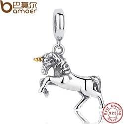 GIFT of The Winner Noble Elegant 100% 925 Sterling Silver Free Spirit Horse Animal Charm Pendant Fit  Bracelet PAS020