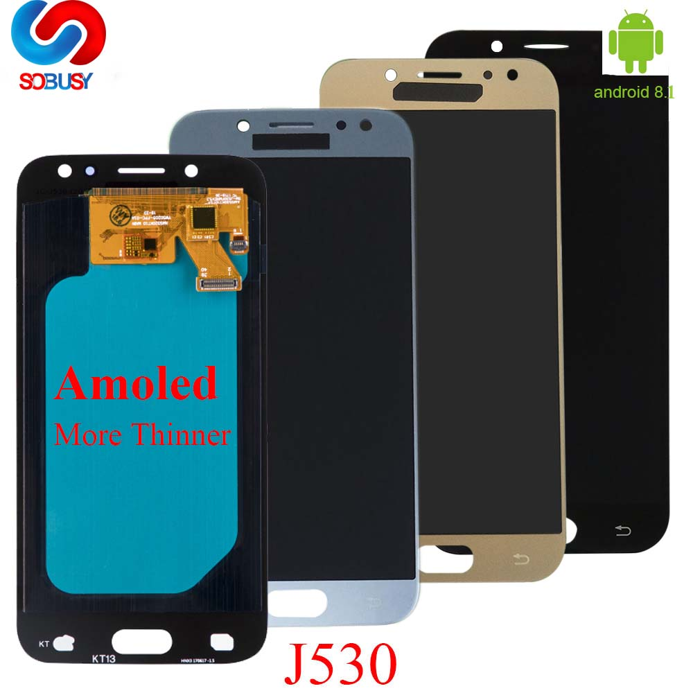 Adjust AMOLED/TFT Screen For <font><b>Samsung</b></font> <font><b>GALAXY</b></font> <font><b>J5</b></font> <font><b>2017</b></font> J530 <font><b>Display</b></font> J530F LCD SM-J530FM Touch Digitizer Glass Assembly <font><b>J5</b></font> <font><b>2017</b></font> LCD image