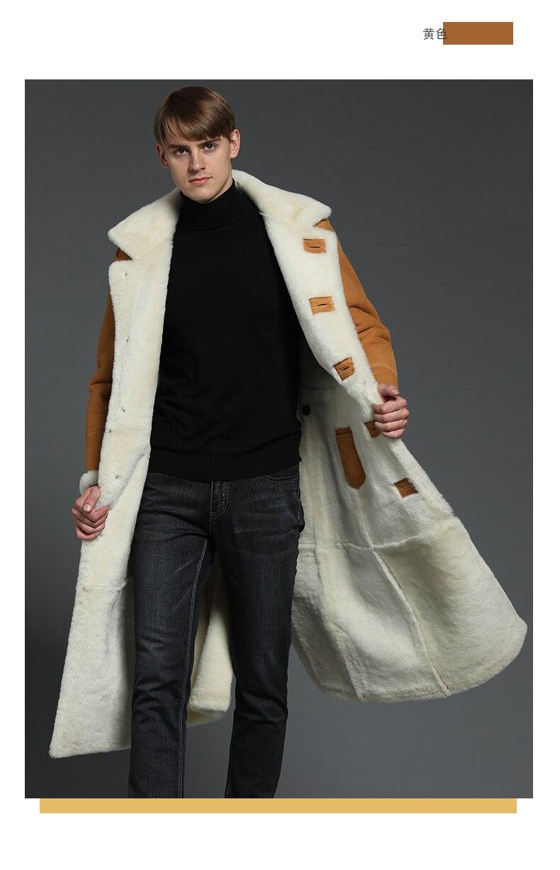 581a90c6179 Aliexpress.com  Comprar Hombres abrigos de piel oveja hombre capa de ...