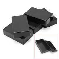 5Pcs Indoor Outdoor Shell Junction Box Instrument Black Monitoring Waterproof ABS Cable Electronic Project Case Enclosure Power