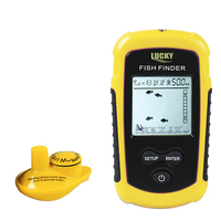 Portable Depth fishing Finder of Ocean Lake Sea with Wireless Sonar Sensor 100M Fishfinder Rechargeable 2.8'' Colors LCD Display