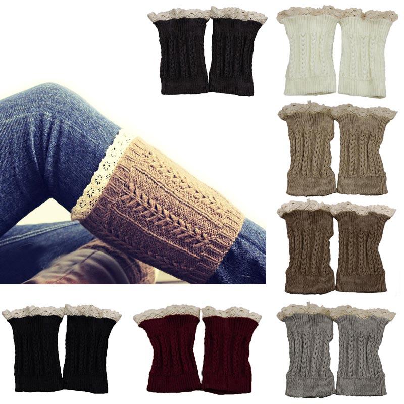 Nueva moda de invierno para mujer niñas crochet knit Encaje ajuste ...