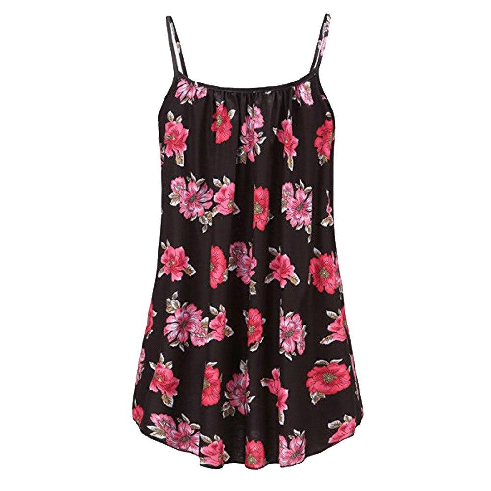 Plus Size 3XL 4XL 5XL 6XL Women Summer Printed Sleeveless Vest Blouse Tank Tops Clothes Blusa Feminina 1
