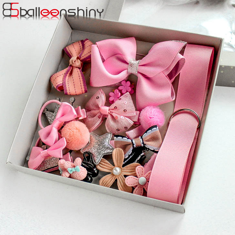 BalleenShiny 18Pcs/<font><b>set</b></font> Headwear <font><b>Set</b></font> <font><b>Baby</b></font> <font><b>Girls</b></font> Hairpins Children Headband Bowknot Hot Sale Crown Princess New <font><b>Hair</b></font> <font><b>Accessories</b></font> image