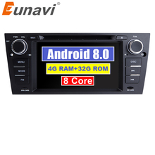 "Eunavi 7 ""Android 8.0 1 Din Car DVD Multimedia Player GPS Navi Per 3 BMW Serie E90 E91 E92 e93 318 320 325 Canbus USB wifi bt"