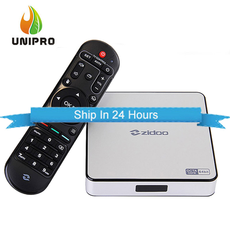In Stock!ZIDOO X6 Pro Android 5.1 Lollipop TV Box RK3368 Octa Core Cor