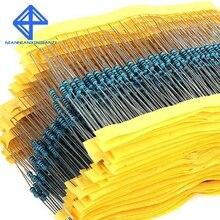 Resistencias 600 шт./компл. 1/4 Вт Сопротивление 1% 30 видов каждое значение Металлические Кабельные наконечники в наборе для резисторов