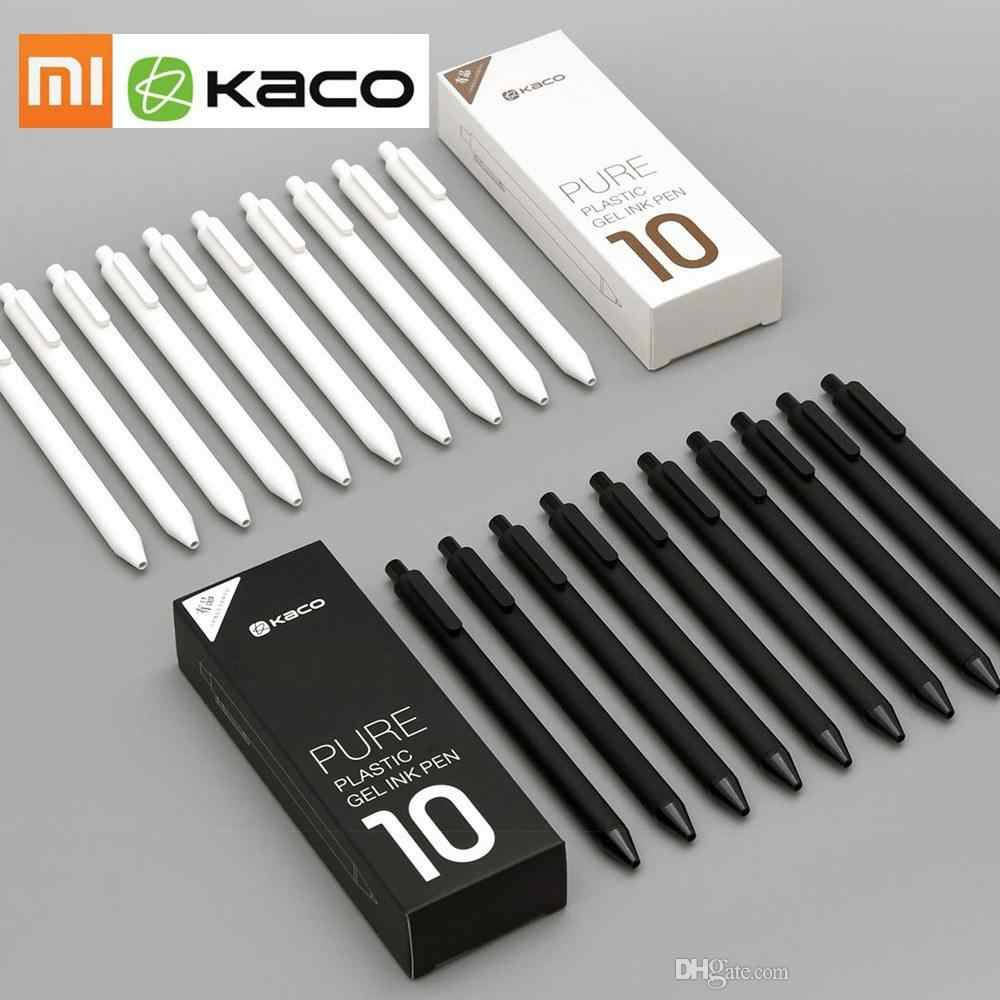 Original Xiaomi KACO 0.5mm Roller Mi Signing Pen Gal Ink Smooth Writing Durable Signing Black ink Refill 1 PCS Retail 2 Color