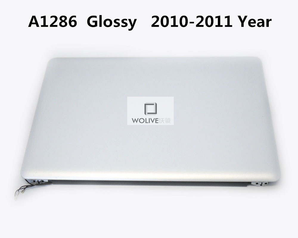 <font><b>A1286</b></font> Glossy Full assembly 100% New For Macbook Pro 15'' <font><b>A1286</b></font> Glossy LCD <font><b>Screen</b></font> Complete Assembly 2010 2011 year image