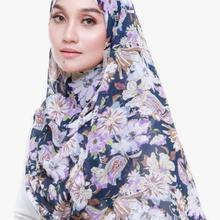 1 pc New Thick bubble chiffon hijab scarf printed in blue st