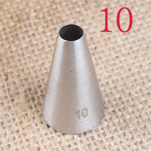 VOGVIGO  #10 Round Icing Piping Nozzle Metal Stainless Steel Cake Cream Decoration Tips Cake Decorating Tools недорого
