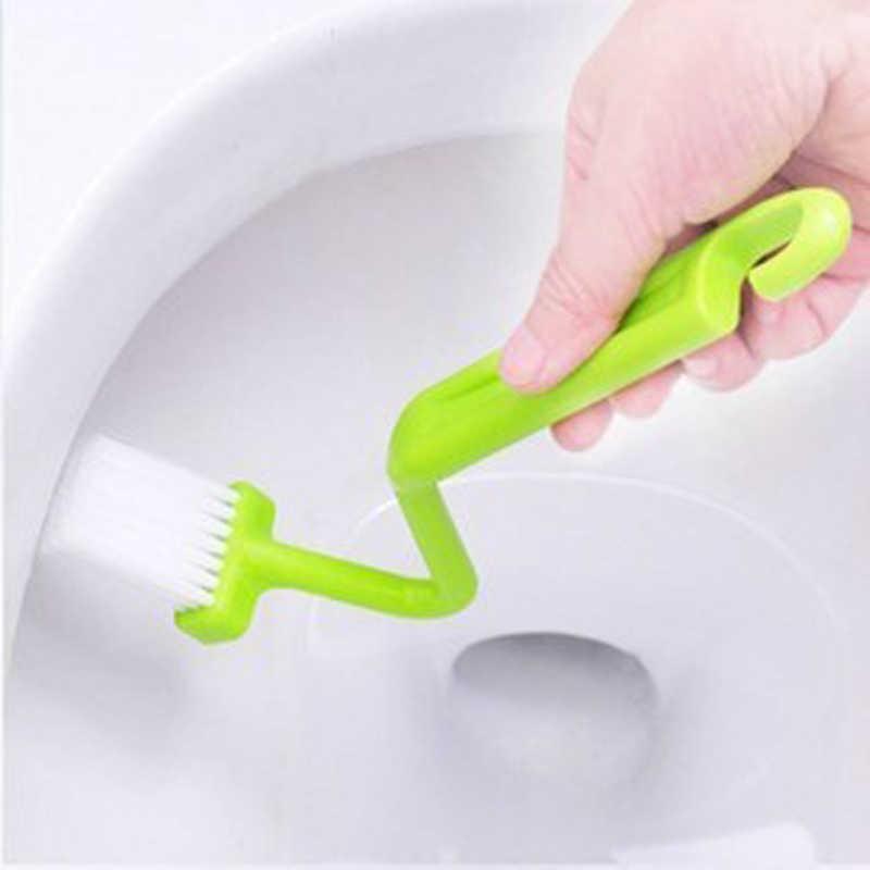 2018 Новые горячие полезные изогнутые небольшой Ванная комната Кухня туалет щетка для очистки углу очиститель обода изогнутые чаша ручка для уборки дома
