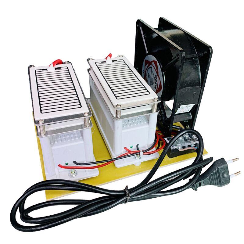 Aire ozono generador 220V 20g Metal plástico ozono desinfección máquina coche filtro de aire purificador ventilador para el hogar coche esterilizar Eruntop 8586D + soldadores eléctricos de doble pantalla Digital + pistola de aire caliente mejor estación de reparación SMD mejorada 8586 8786 8786D