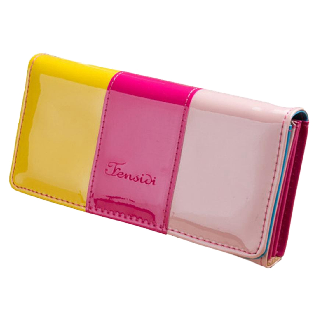 PU leather women wallets 3colors patchwork women bags ID card holders long style purse bolsa wallet coin keeper пуф patchwork colors