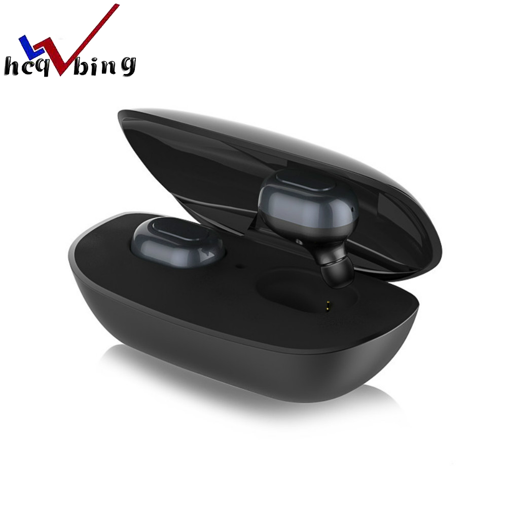 HCQWBING New Mini Wireless earphone TWS Bluetooth 4.1 Charging Dock headphone stereo handsfree headset for apple iphone xiaomi original stereo car bluetooth headset wireless earset bluetooth headfree car kit earphone headphone with base charging dock