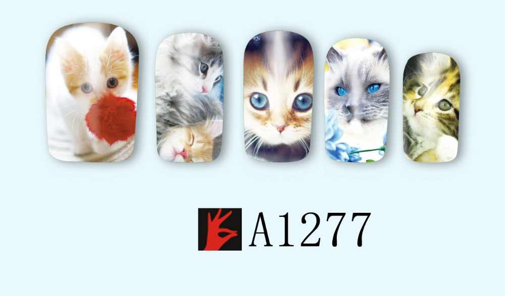 UPRETTEGO 12 PACKS/LOT NAIL BEAUTY WATER DECAL SLIDER NAIL LEUKE BABY HOND KAT UIL DIER VOGELS A1273-1284