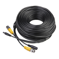2 Packs 4 Pack 150ft video power security camera extension cable wire for CCTV DVR CCD Security Cameras Surveillance System