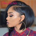 Short Bob Cut Glueless Silk Top Full Lace wigs with Natural hairline Virgin Unprocessed Brazilian Human hair Bob lace front wigs