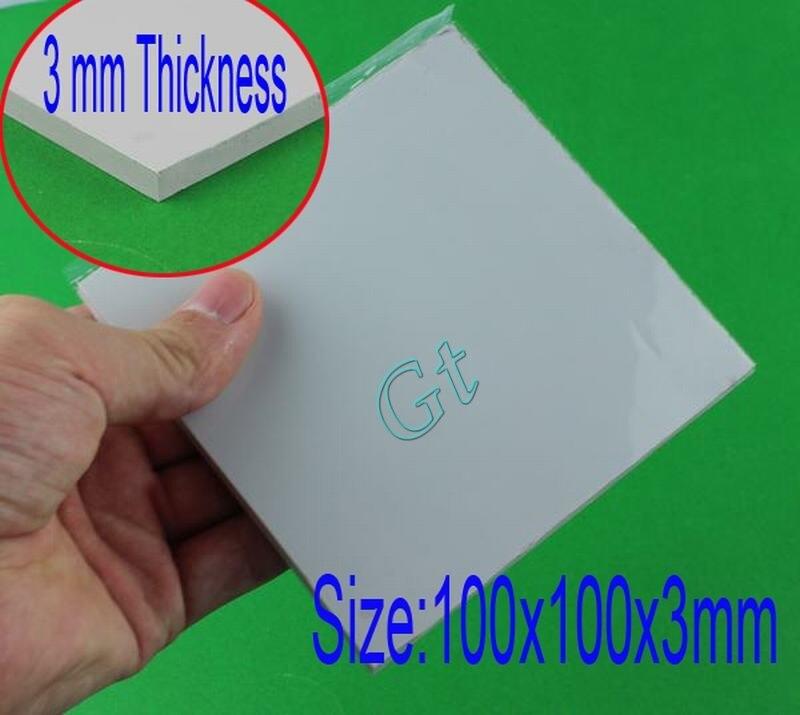 1 peça cinza almofada condutora térmica cpu ic x360box fã placa gráfica 100x100x3mm dissipador de calor chip composto almofada