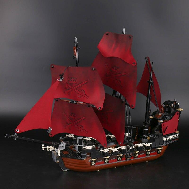 16009 الملكة آن الثأر قراصنة الكاريبي اللبنات مجموعة متوافق مع Legoing 4195 الاطفال السفينة اللعب-في حواجز من الألعاب والهوايات على  مجموعة 3