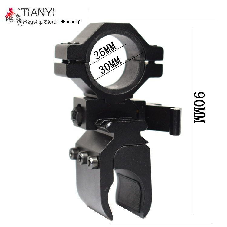 Tactical Quick Detach Weaver Mount Ring Picatinny Weaver 30mm to 20mm Rail Tube Flashlight Rifle Scope Flashlight Mount Holder