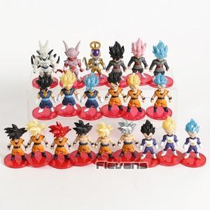 Image 4 - Dragon Ball Z Super Saiyan Son Goku Gohan Vegeta Vegetto Syn Shenron Freeza Janemba Mini PVC Hình Đồ Chơi 21 cái/bộ
