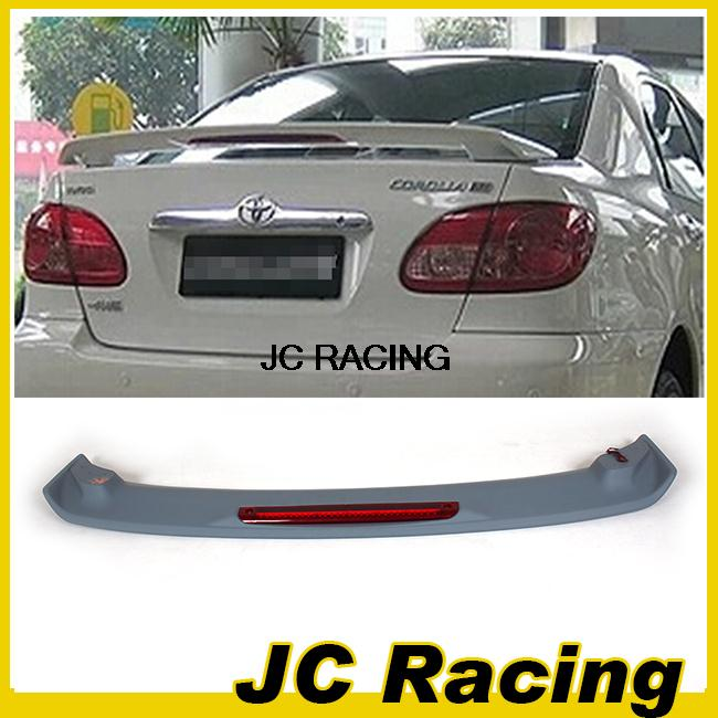 ФОТО High quality ABS unpainted  auto car rear wing spoiler, boot lip punch with LED lamp for Toyota(Fits for corolla 06-14)
