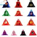 Máscara + capa superman spiderman crianças capas de super-heróis batman superhero costume ternos para meninos das meninas para a festa