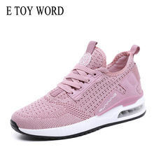E TOY WORD Women Sneakers mesh Breathable Sneakers Casual Women Shoes height Increaseing Female Cushion Trainers Basket Femme sneakers e goisto sneakers