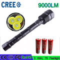 z30 LED Flashlight CREE XM-L 3T6 9000 Lumen 5 Mode Torch Lamp Light powerful lled torch for Camping Hunting fishing